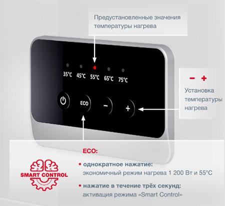 панель управления бойлера Термекс Браво 30 Wi-Fi