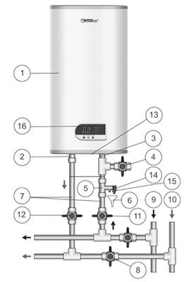 схема подключения бойлера Термекс FSD 80V (Diamond)