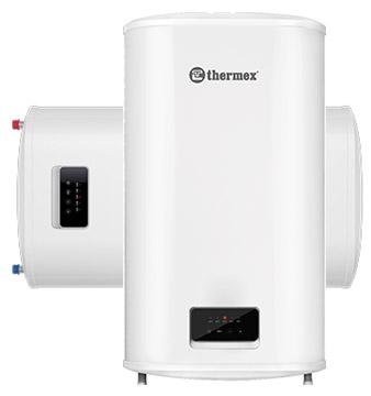 Плоский накопительный водонагреватель Thermex Bravo 80 литров, 1,2 / 2 кВт, универсальный монтаж (вертикальный / горизонтальный), бак из нержавеющей стали