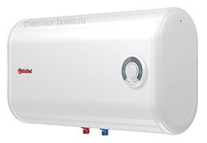 Горизонтальный плоский водонагреватель THERMEX Ceramik 50 H объемом 50 литров настенный накопительный с механическим управлением и тремя режимами нагрева в СПБ