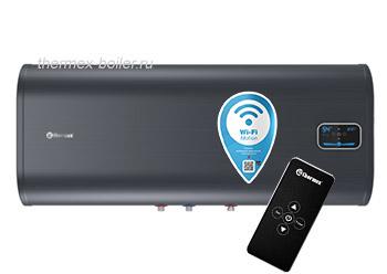 Водонагреватель THERMEX ID 100H PRO Wi-Fi с пультом дистанционного управления, настенный, горизонтальный, плоский, объемом 100 литров в СПБ