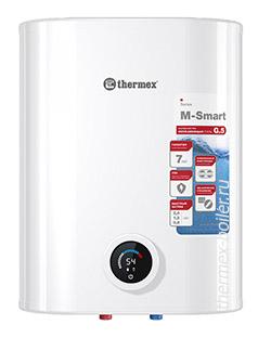 плоский накопительный водонагреватель THERMEX M-Smart MS 30 V PRO объемом 30 литров с сухим ТЭНом механическим управлением и 2 режимами нагрева в СПБ